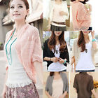 Womens Ladies Hollowed Dolman Sleeve Knitted Crochet Shirt Top Coat Cardigan