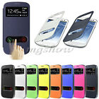 PU Flip View Front Hollow Leather Battery Cover Case For Samsung Galaxy S3 i9300