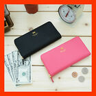 Zip Up Clutch Wallet Pouch For Cellphone Case - Ribbon L Pouch