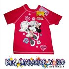 Minnie Mouse Rashie Swim Shirt Disney Sun UPF 50+ New Girls Kids Licensed