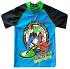 Ben 10 Swim Shirt Sun Rashie UPF 50 + Size 4 Boys Kids Licensed New BNWT