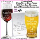 Personalised Glass Gifts Best Man Usher 18th 21st 30th  Birthday Bridesmaid Gift