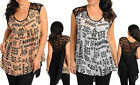 Ladies Women Plus Size Swing Style Tank Top Black White Peach Size 14 16 18 NEW