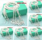 Wholesale 10pcs 1mm 925Sterling Silver Snake Chains Necklace Xmas Gift+Gift box