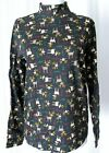 NWOT KIM ROGERS BLACK HOLIDAY CHRISTMAS 100% COTTON TOP WOMEN TURTLECK S L XL
