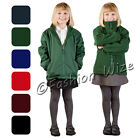 Girls Fleece Reversible Jacket Winter Warm Rain Coat School Uniform