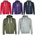 New Mens Plain Marl Patched Zip Fleece Hoodie Hoody Sweatshirt Size S M L XL XXL