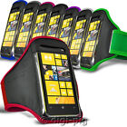 SPORTS ARMBAND STRAP CASE AND PROTECTIVE POUCH FOR NOKIA LUMIA 625 MOBILE PHONE