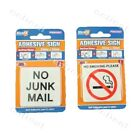 1 pcs Self Adhesive Sign No Junk Mail 5.5x5.5cm