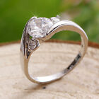 1.2ct Created Brilliant Diamonds 18K White GP Ring *0165* choose your ring size