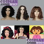 Snow White- Wonder Woman-Dora the explorer-black brown Halloween Cosplay Wig