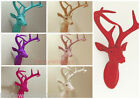 diamante stag head 43x35x22cm red purple reduced to clear
