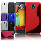 NEW S LINE WAVE GEL CASE COVER + SCREEN PROTECTOR FOR SAMSUNG GALAXY NOTE 3