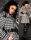 815 Demi-Season Coat Full Lining Knee Length Pattern Checkered Size 8 10 12 14