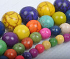 mixed multicolour Turquoise Gemstone Round Loose Bead 4mm 6mm 8mm 10mmfree ship
