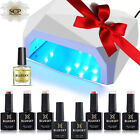 KIT GEL UV Uñas Capa Base + Top + Esmalte + Lampara y CND Shellac Wrap de Regalo