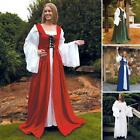The Fair Maidens Dress - Blue Red or Green For Re-enactment Stage Costume & LARP