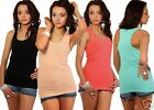 Ladies Classic COTTON Stretch Vest Top One Size UK 8/10   24h Dispatch  709