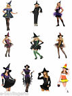 BLACK WITCH COLLECTION DELUXE FANCY DRESS COSTUMES COMPLETE OUTFIT HALLOWEEN