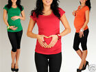 Pregnancy Maternity Stretchy Jersey T-shirt Top UK Size 6/8  24h Dispatch  228