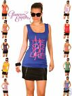 Ladies Sleevless Printed Jersey Vest T Shirt Top One Size Medium 24h Disp  186
