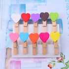10PCS Mini Heart Wooden Pegs Photo Clips Note Memo Holder Card Craft Party Favor
