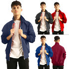 New Mens Vintage Classic Retro Harrington Bomber Coat Jacket Size S M L XL XXL