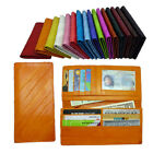Genuine Eel skin Leather Slim Diagonal pattern Wallet with coin Purse 16 colors