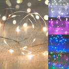 20 Micro LED Battery Operated Silver Wire Xmas Wedding Fairy String Lights