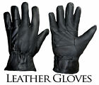 MG1 Mens Leather Winter Gloves Thermal  Lined