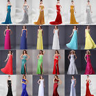 Stock Chiffon Sexy Long Formal Prom Dresses Party Bridesmaid Evening Ball Gowns