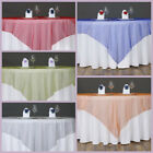 "1 pc 60x60"" Sheer Organza Table OVERLAY Wedding Party Decorations - 24 colors!"