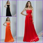 Unique Long Strapless Chiffon Prom Bridesmaids Dresses Evening Party Gowns 6-26