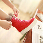 Womens Lace Up Fur Trim Trendy Winter Athletic Combat Motorcycle Sneaker Boots #