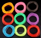 50pcs Luminous Rubber Fluorescence Candy Color Bracelet