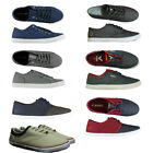 MENS NEW VOI JEANS LIMITED QUILT LACE-UP PILIMSOLLS TRAINERS IN 2 COLOURS