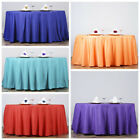 "132"" Round Polyester Tablecloths for Wedding Linens SUPPLY WHOLESALE - 13 colors"