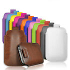 PU LEATHER PULL TAB CASE COVER FOR VARIOUS SMALL SAMSUNG MOBILES