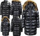 P28 NEW WOMENS HOODED QUILTED LADIES TRENCH COAT PUFFER SHIMMER JACKET PLUS SIZE