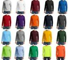 MEN'S 50/50 COTTON /POLY LONG SLEEVE CREW T-SHIRT 19 COLORS! S-XL 2X 3X 4X 5X 6X