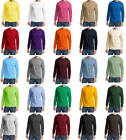 MEN'S 50/50 COTTON /POLY, LONG SLEEVE, CLASSIC CREWNECK, T-SHIRT, SOFT! S-6XL