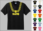 Gold Chain Custom Personalized Name Metallic Print Hip Hop Adult Funny T-Shirt