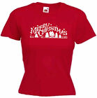 MERRY CHRISTMAS LADIES' T-SHIRT GIRL'S WOMEN'S TOP CELEBRATION XMAS PRESENT