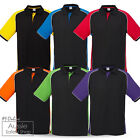 20 X UNISEX MEN LADIES CONTRAST MODERN NITRO OFFICE WORK UNIFORM POLO SHIRTS