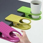 1x Creative Drink Cup Coffee Mug Desk Lap Folder Table Holder Clip Home/Office