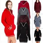 New Womens Ladies Cable Knitted Hooded Long Jumper Dress Plus Size S M L XL XXL