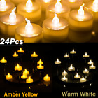 12 Pack Waterproof Flameless Floating Tealights Battery LED Smokeless Candles