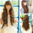 Hot Popular Style Sexy Women Lady Long Wavy Curly Hair Human Full Wigs Colors BD