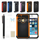 For iPhone4 /4S Hybrid Rugged Matte Shockproof Case Cover & Screen Guard