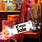 s Christmas Sale Sign Tab Snow Snowflake Shop Window Wall Art Decoration Sticker